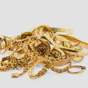 Diverser Goldschmuck wie Ketten, Armbänder Ringe und Armreifen für den Goldankauf